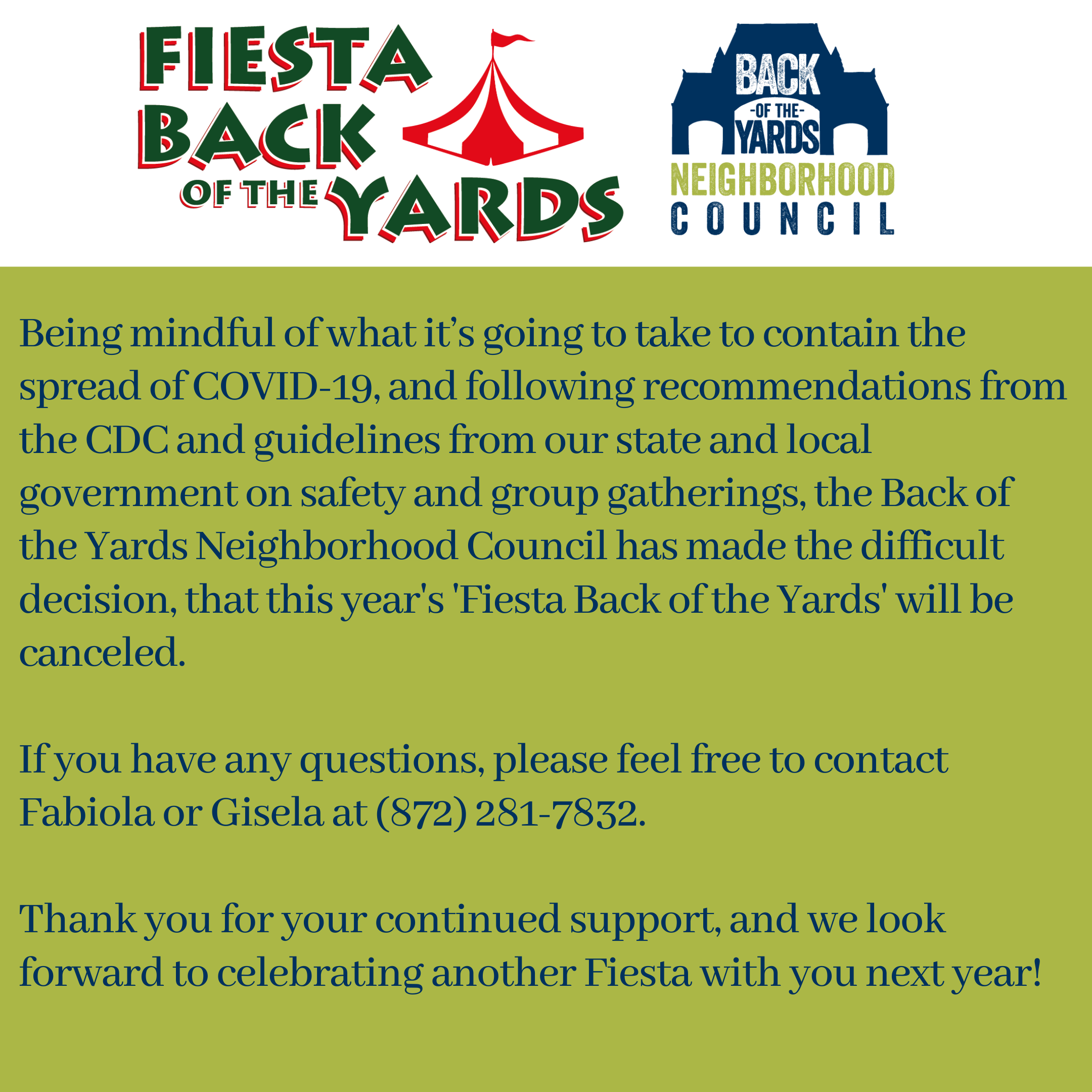 Fiesta will be canceled