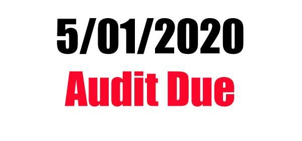 City Mandated Due Dates - Audit Due