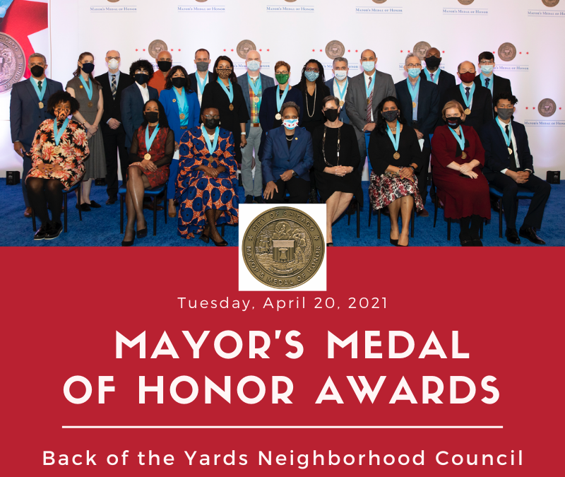 Mayor presented Medal of Honor Award to the BYNC Ballet Folklorico